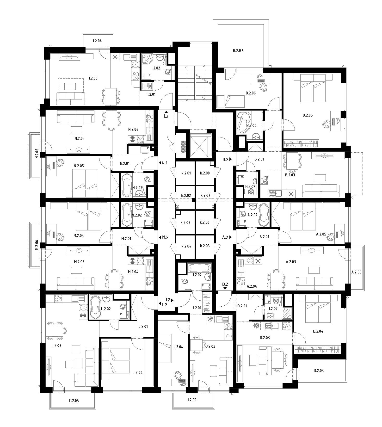 Budova D (S27) – Byty – 2.poschodie