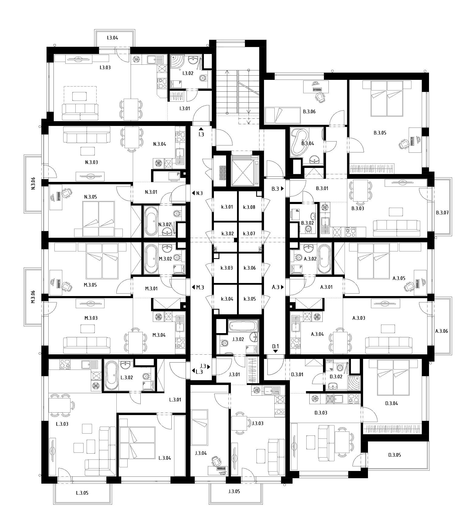 Budova D (S27) – Byty – 3.poschodie