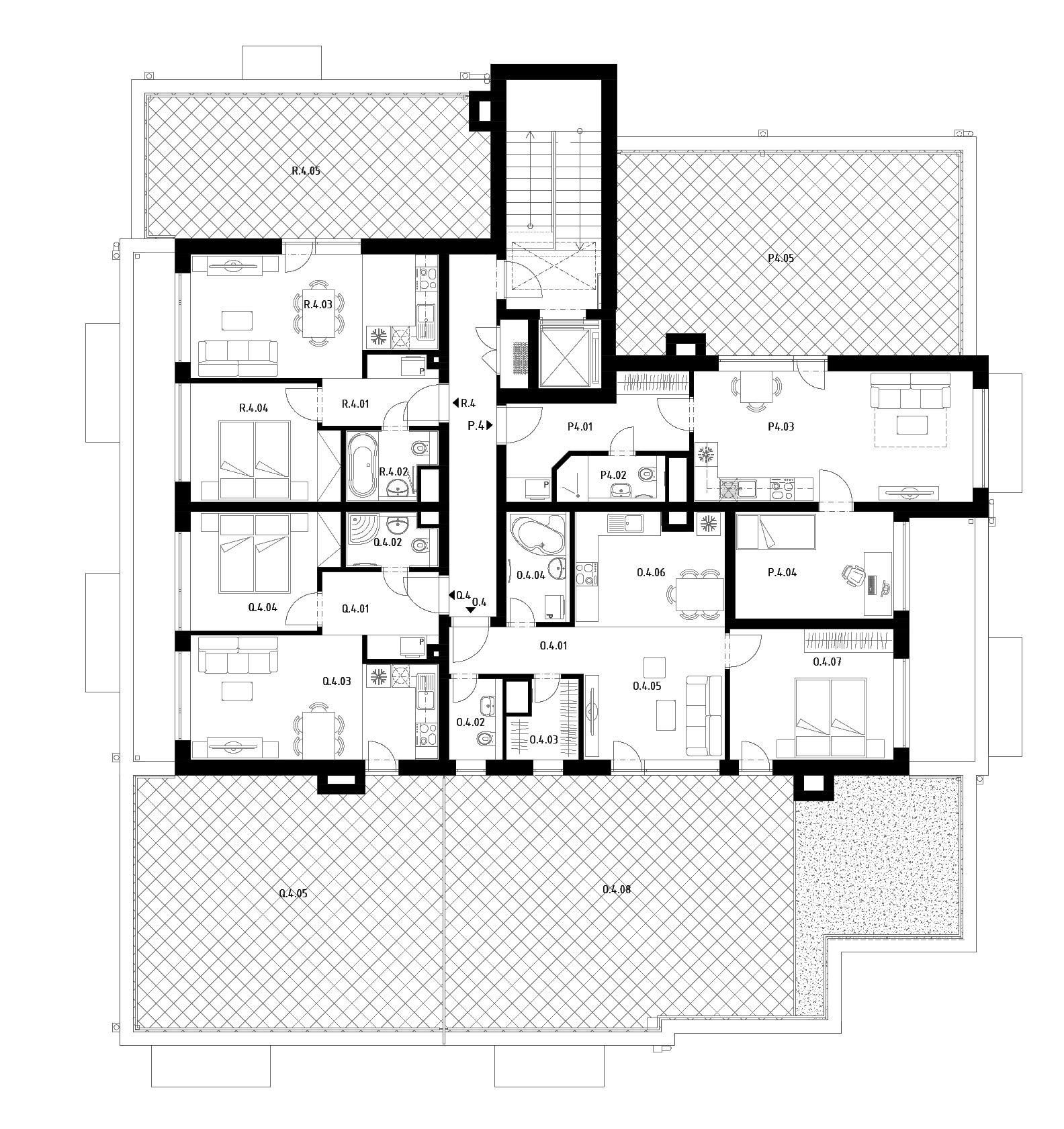 Budova D (S27) – Byty – 4.poschodie