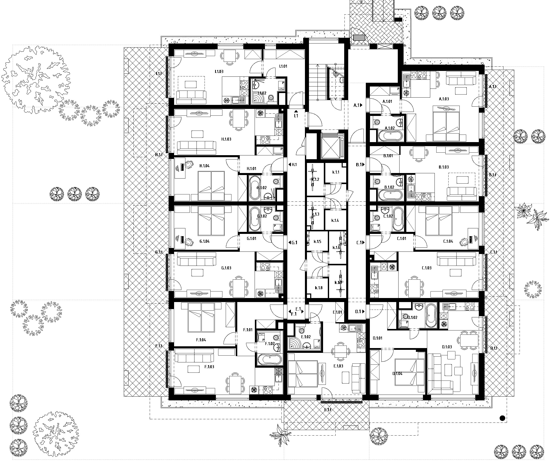 Budova C (S31) – Byty – 1.poschodie