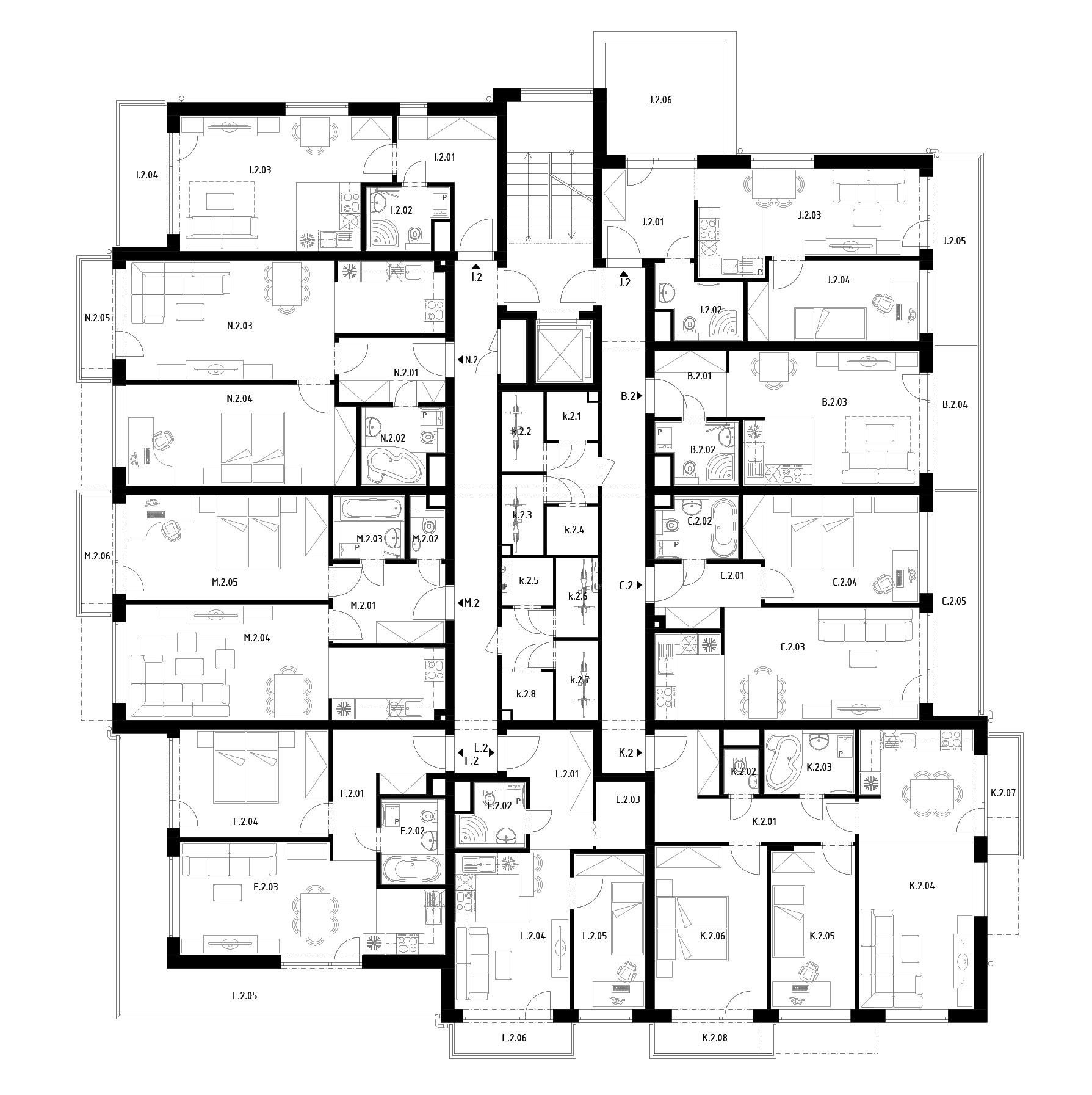 Budova C  (S31) – Byty – 2.poschodie