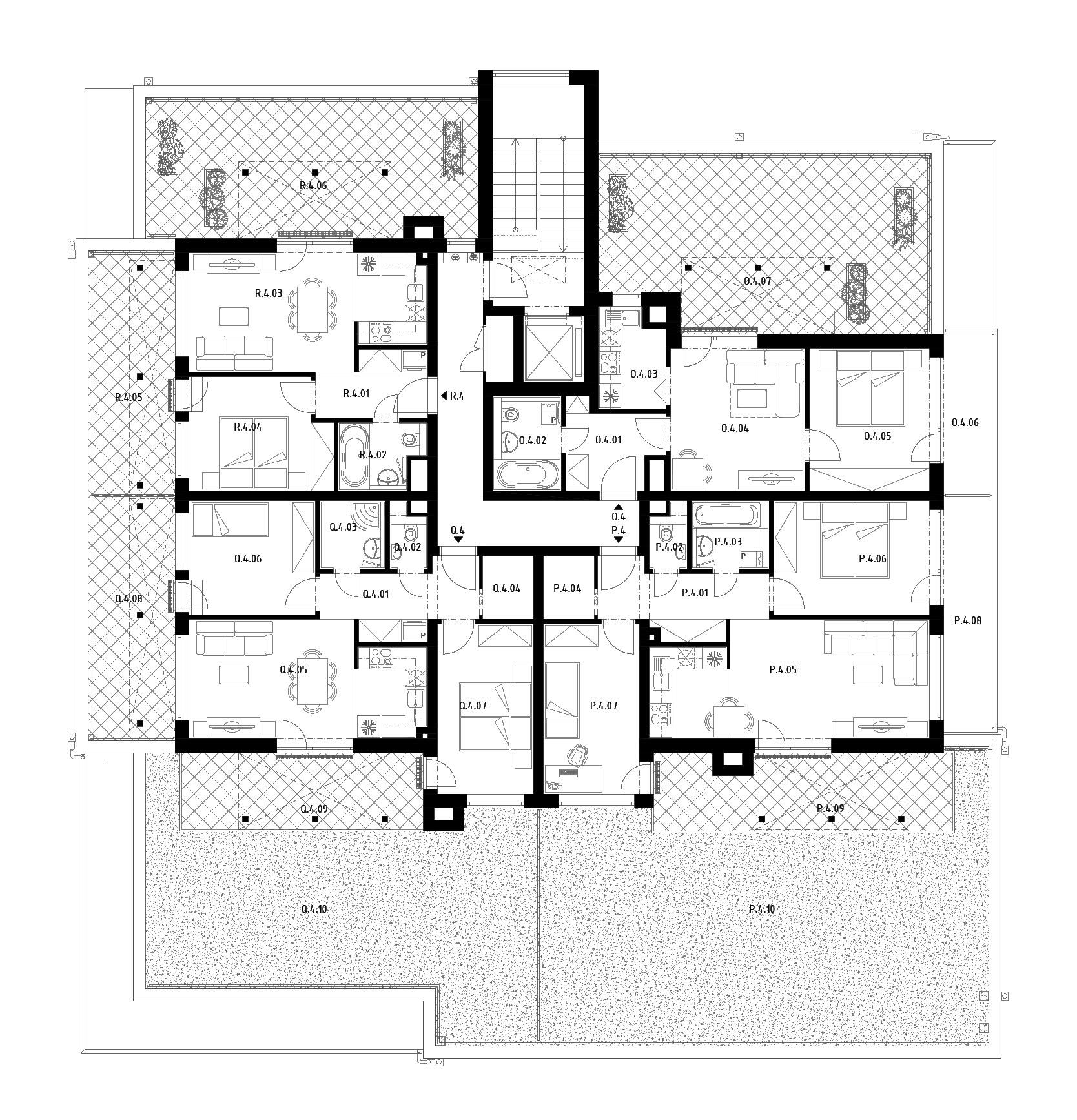 Budova C (S31) – Byty – 4.poschodie