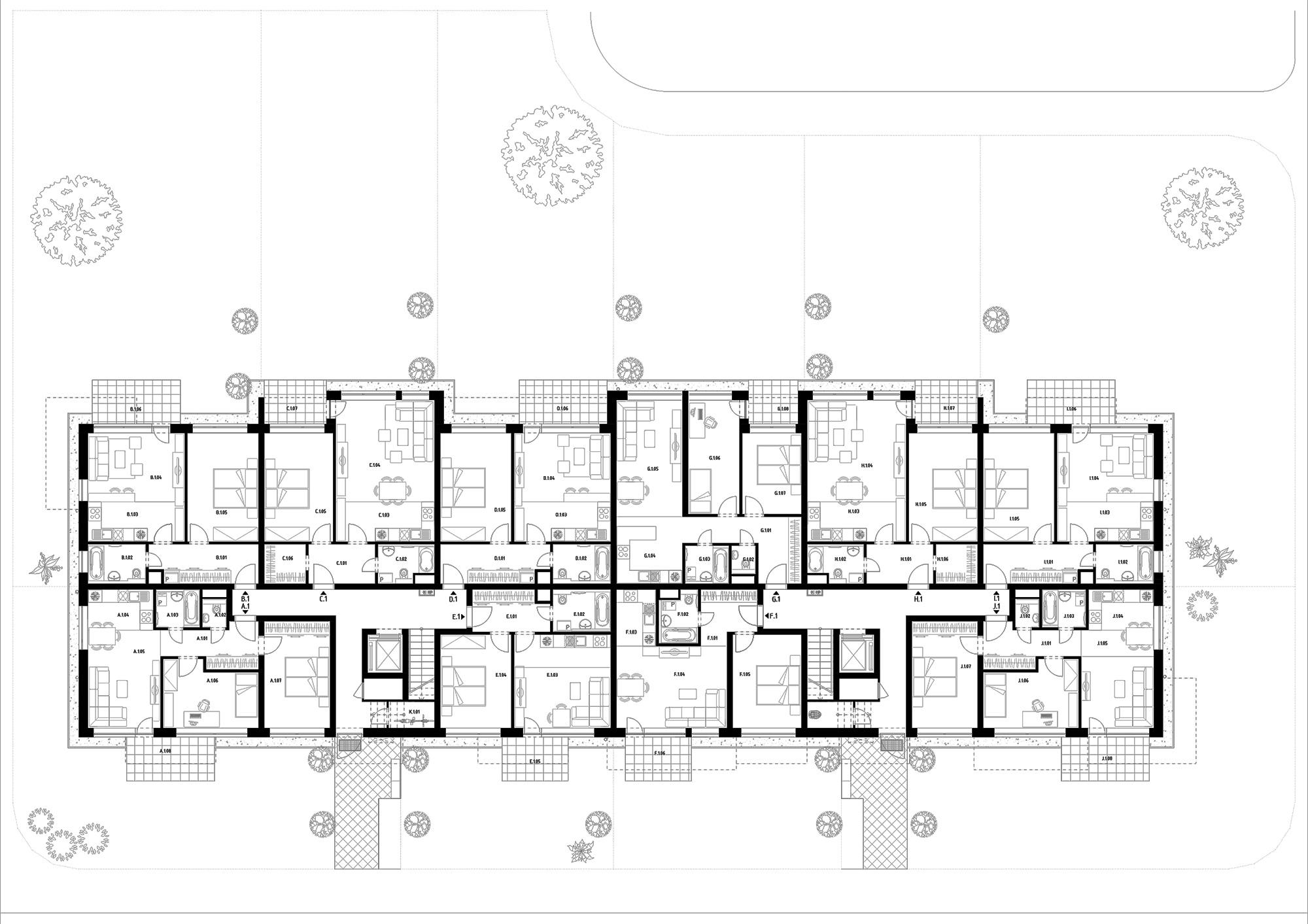 Budova D (S36) – Byty – 1.poschodie