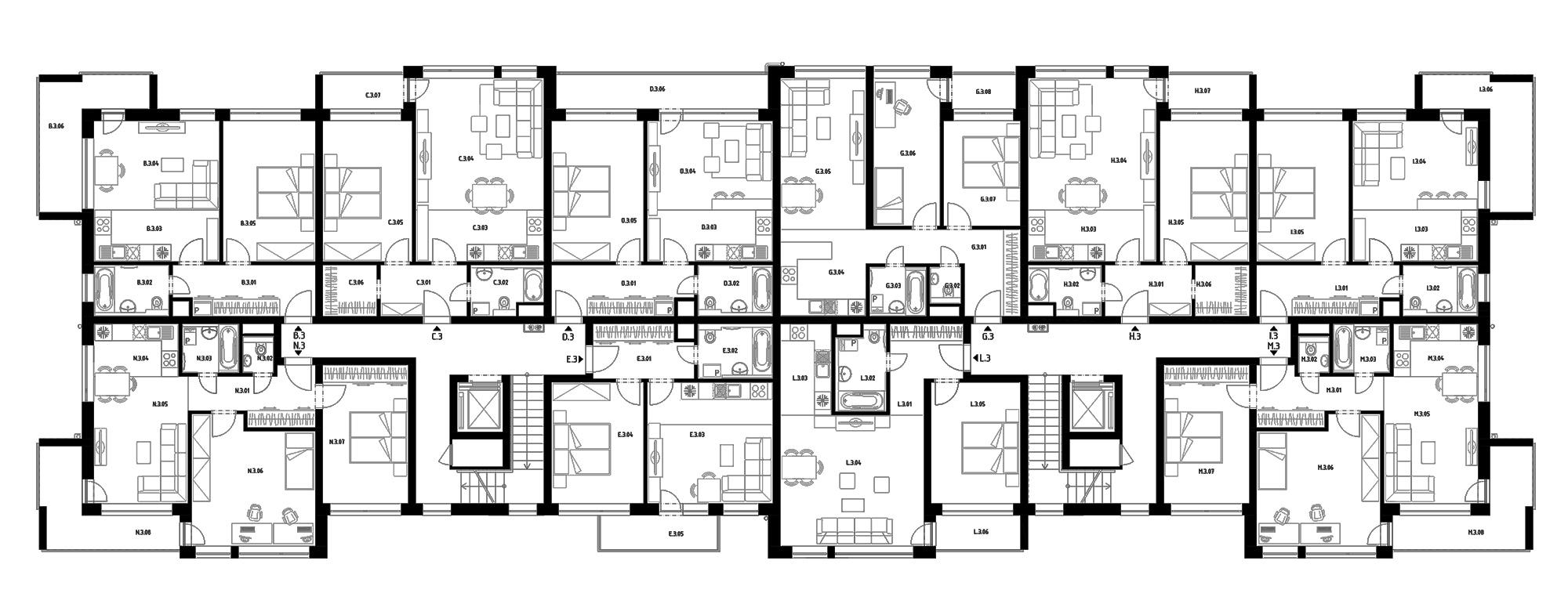 Budova E (S36) – Byty – 3.poschodie