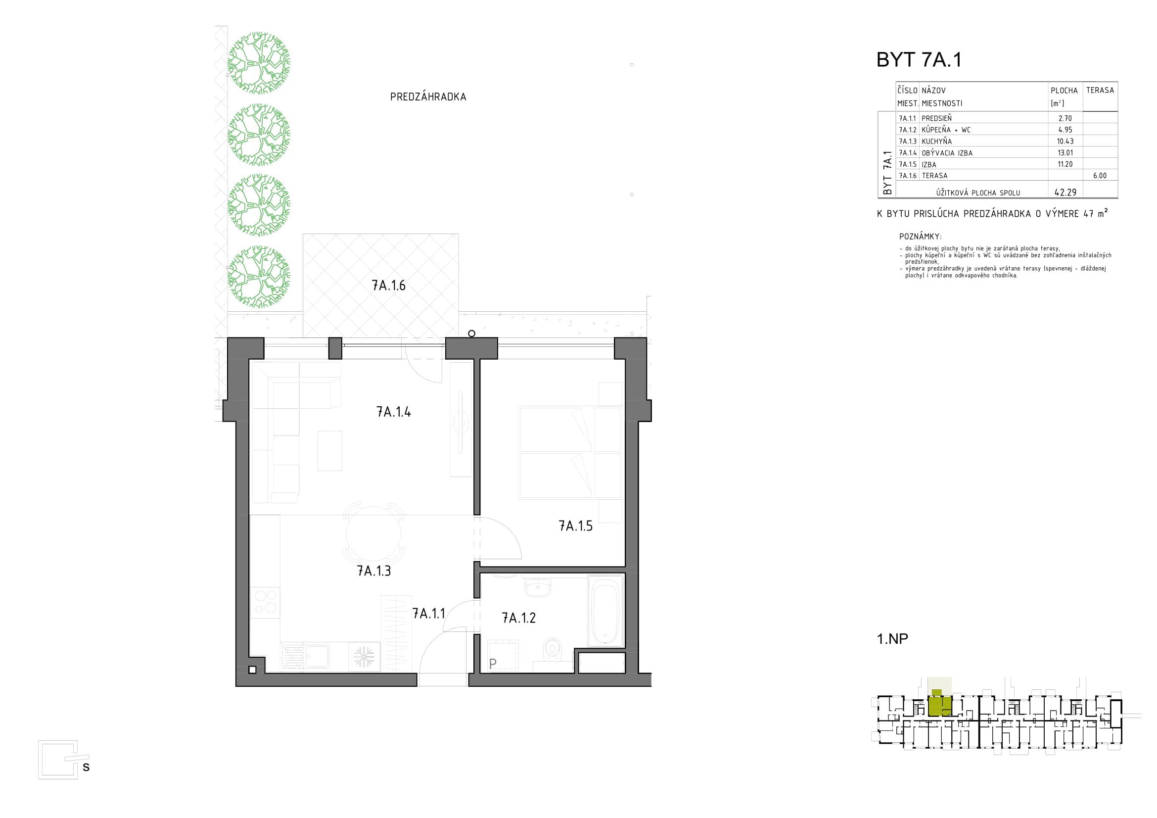 Novostavba Anna Park - Bytový Dom Hron 73 - 1.poschodie