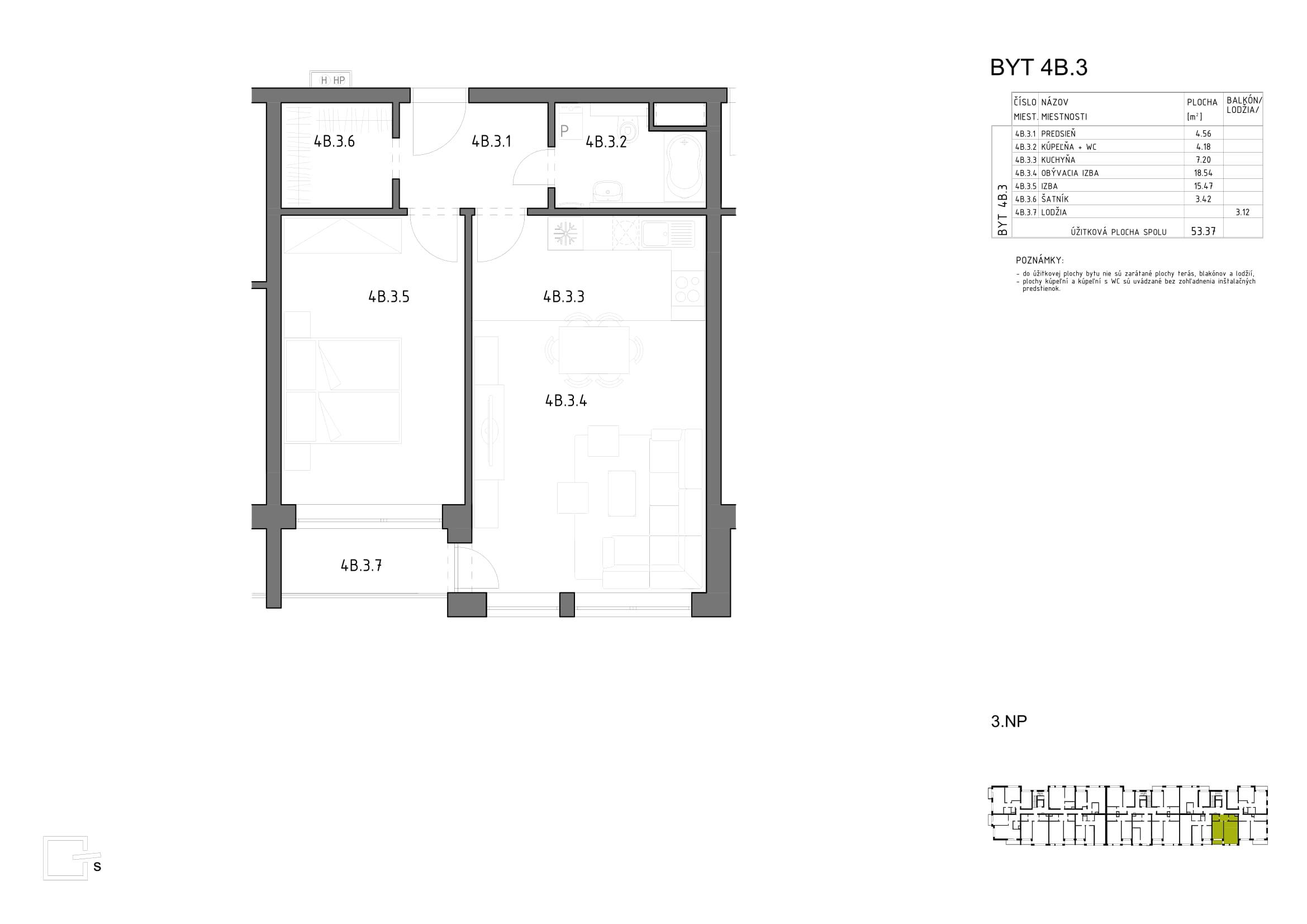 Novostavba Anna Park - 3.poschodie Hron 73
