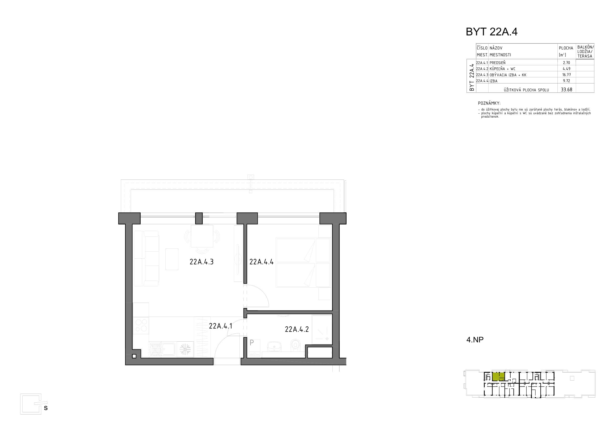 Anna Park - 4.poschodie - Bytový dom Hron 73