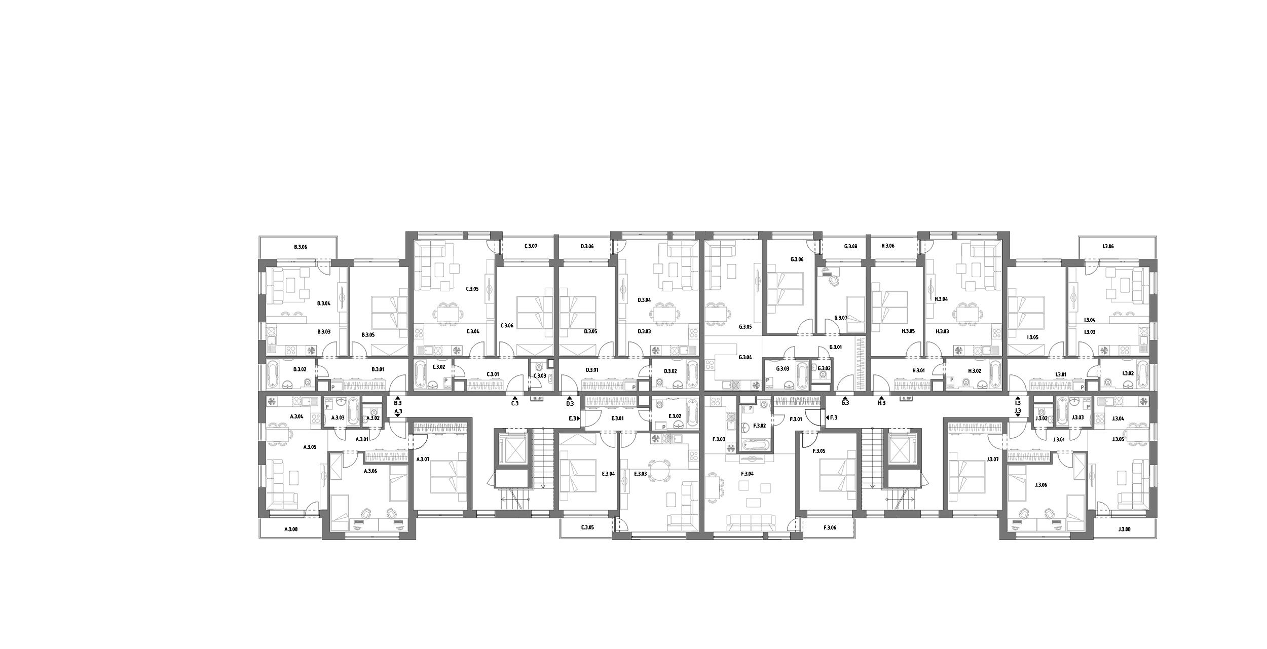 A – Hron 35 – 3.poschodie